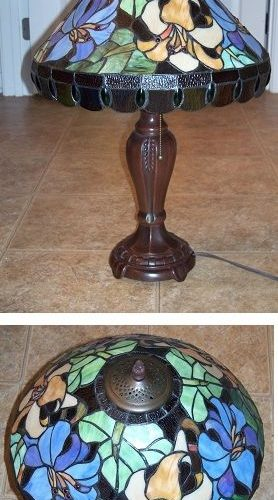 Unique stained glass lily lamp