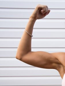 Muscular arm is more healthy and attractive than saggy arms