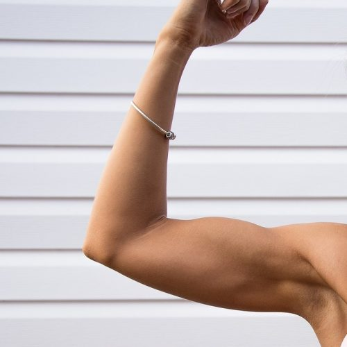 Muscular arm is more healthy and attractive