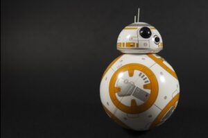 This Star Wars BB8 can not only be controlled, but by a phone app